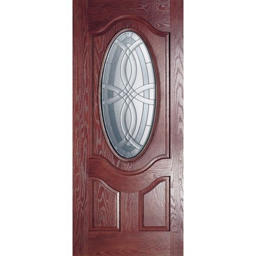Lowes Benchmark By Therma Tru 36 Oval Lite Decorative Mahogany