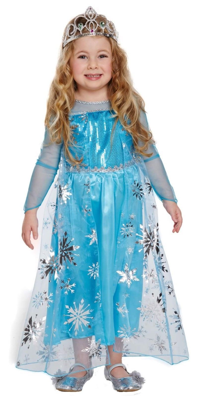 Toddler Girl Elsa Princess Fancy Dress Up Party Costume Age 3 World ...