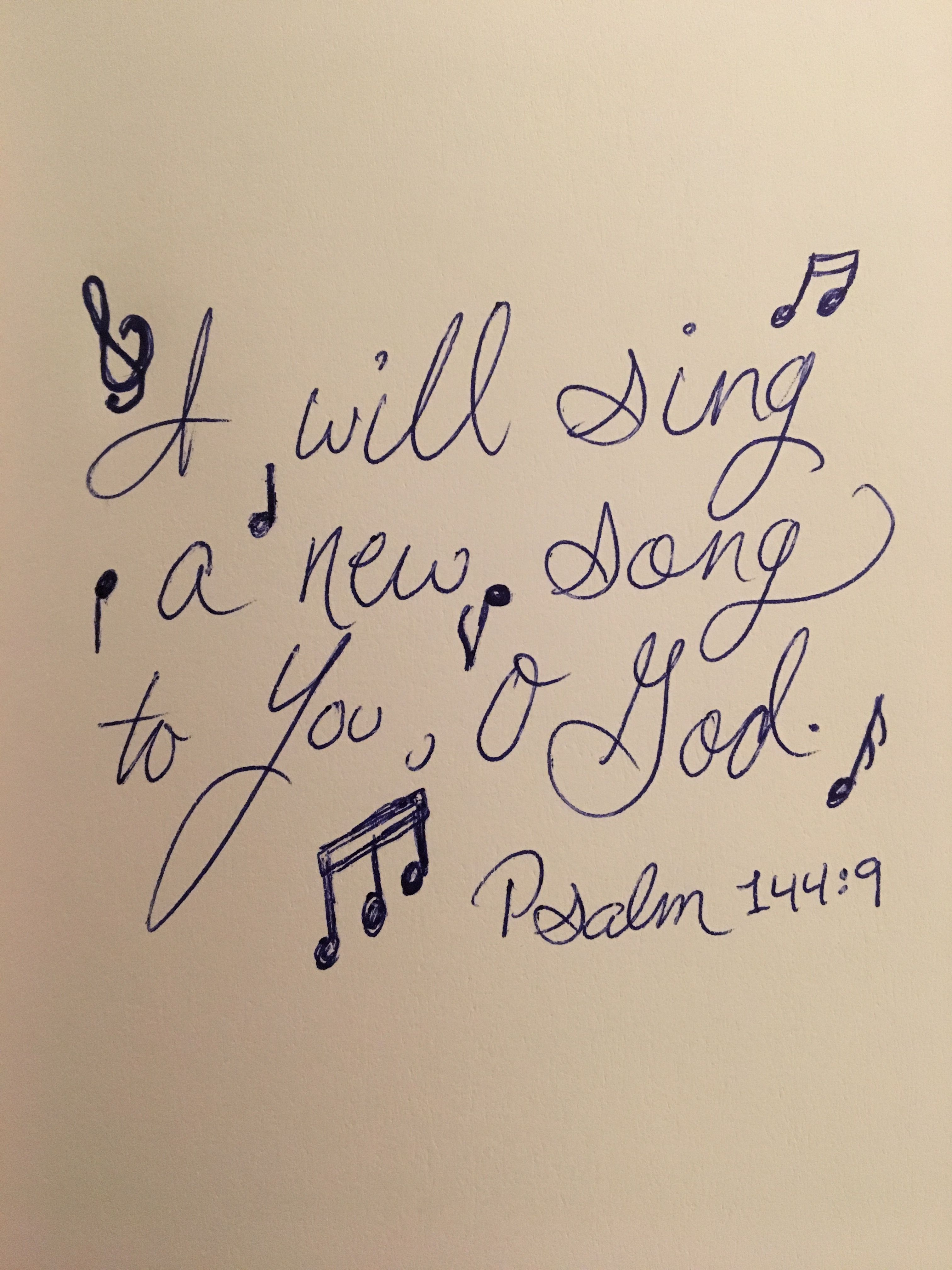 Psalm 144 9 I Will Sing A New Song To You O God Music