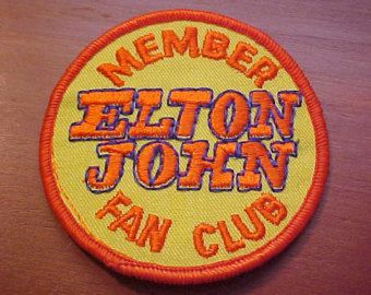 "ELTON JOHN Pin 1.25"" Button Badge Seventies Rocketman Retro NEW"