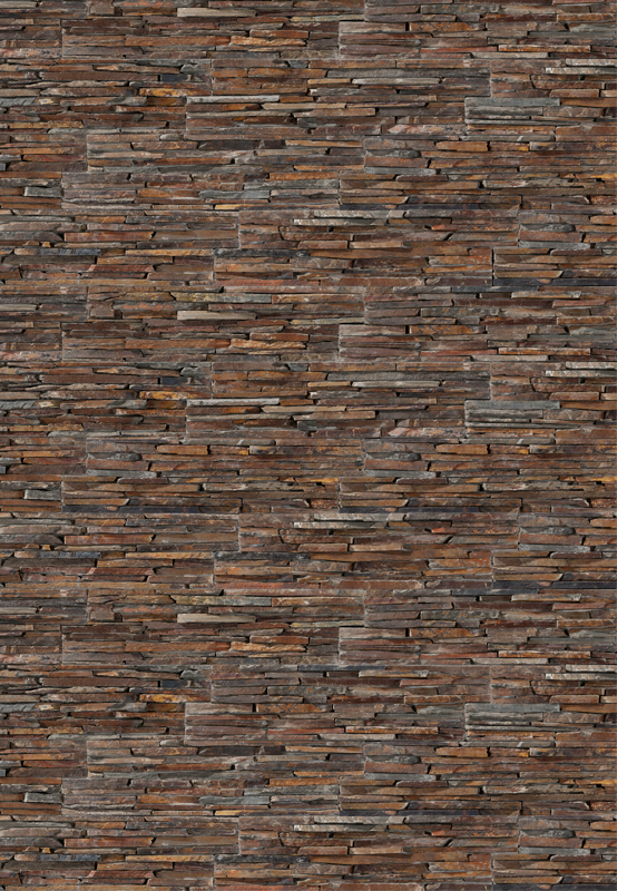 Panel de piedra natural stonepanel laja multicolor ideal - Materiales para fachadas exteriores ...