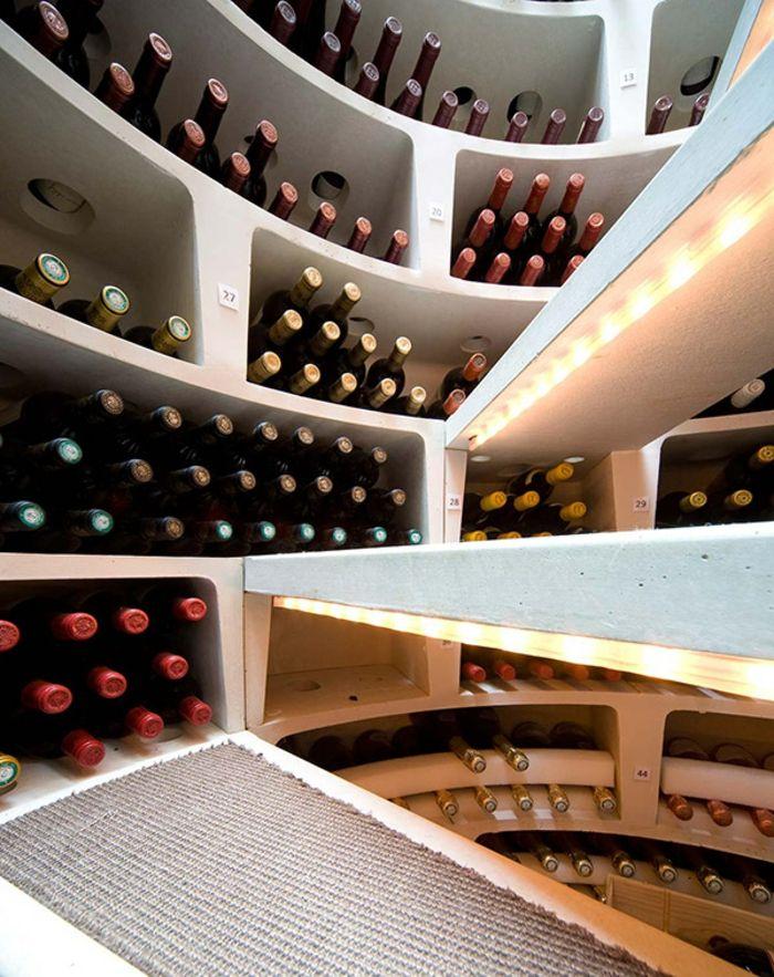 weinlagerung weinkeller spiraltreppe ledleuchten | root cellar ... - Weinkeller Bauen Modern Gestalten