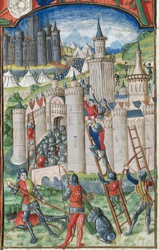 Assault On A City And Castle Medİeval Times Orta 199 AĞ In