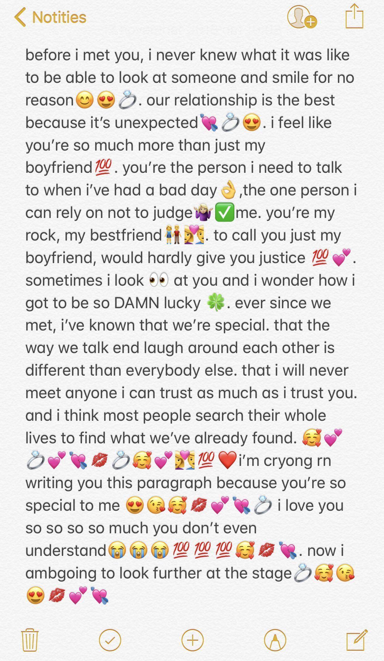 #lovequotesforboyfriend | Relationship texts, Paragraph