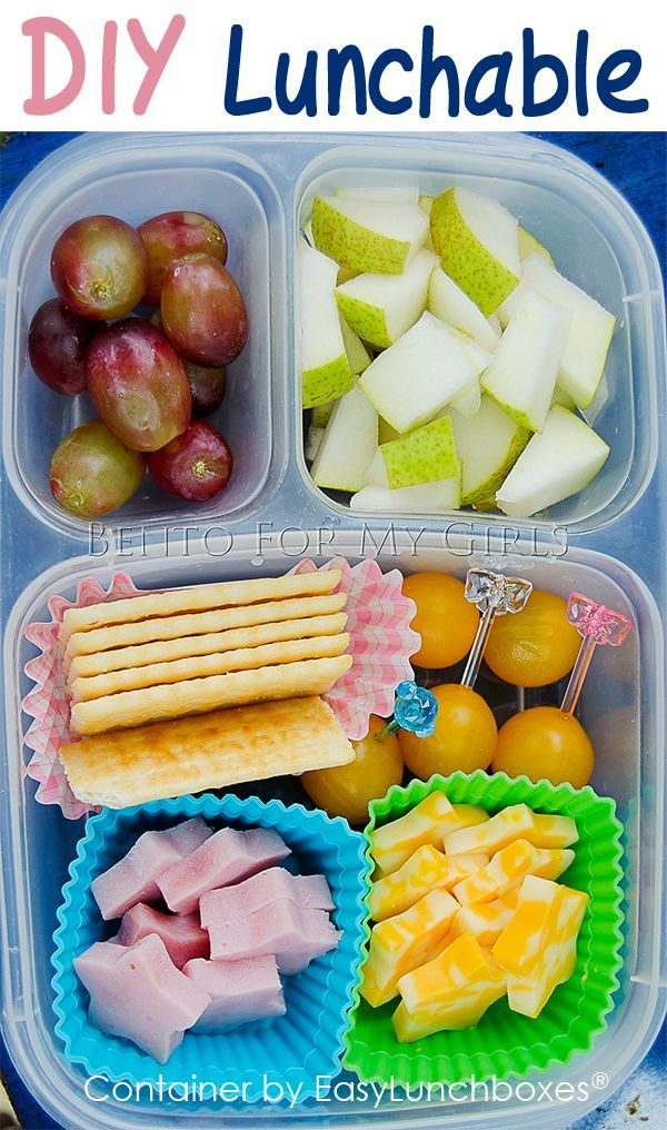 homemade lunchables are so easy to pack with easylunchboxes