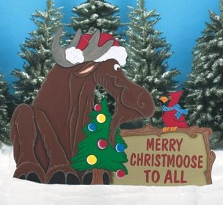 outdoor christmas patterns wood pattern this loveable christmas moose will greet your holiday