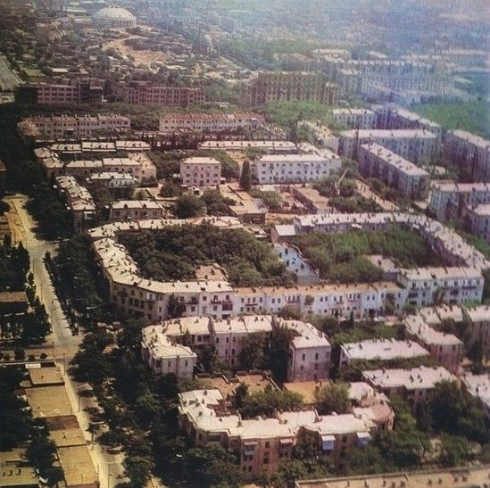 Early Soviet Public Housing Built Around 30s Baku 1972 Old Photos Aerial Photo