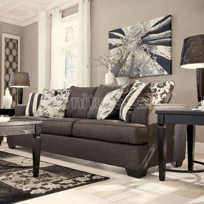 Levon Charcoal Sofa Lovely Living Rooms Pinterest