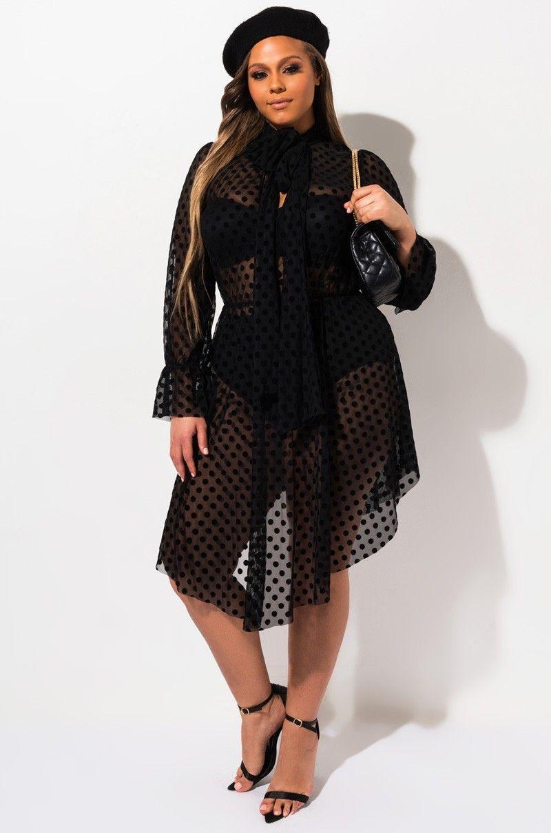polka dot dress, new arrivals, fashion, plus size, sheer