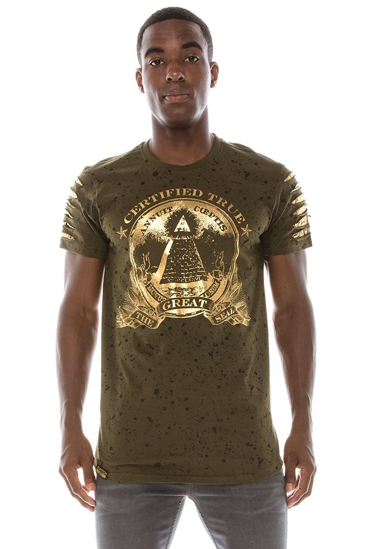 Mens Hipster Hip Hop Money Graphic Dollar Print TShirts