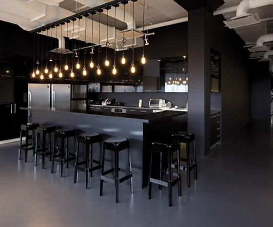 15 Extraordinary Modern Industrial Kitchen Interior Designs: Contemporary Modern Office Kitchen Intended For Office