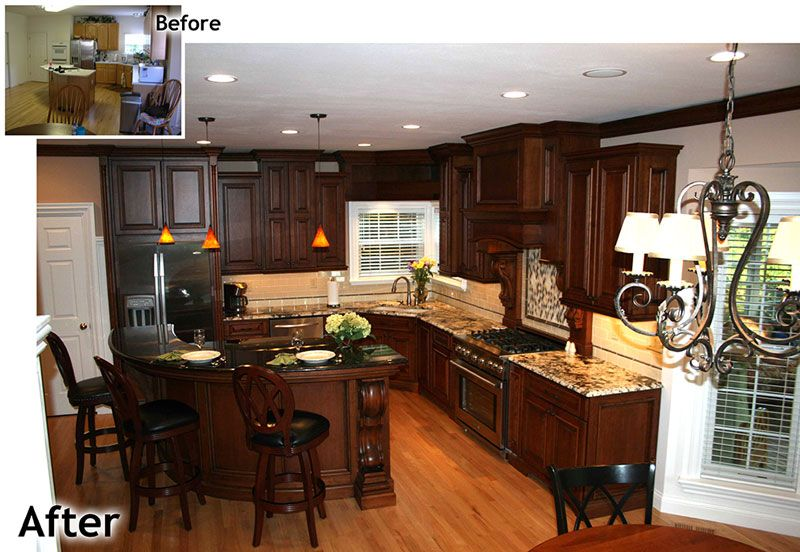 Kitchen renovation custom cabinets st louis ballwin mo ...