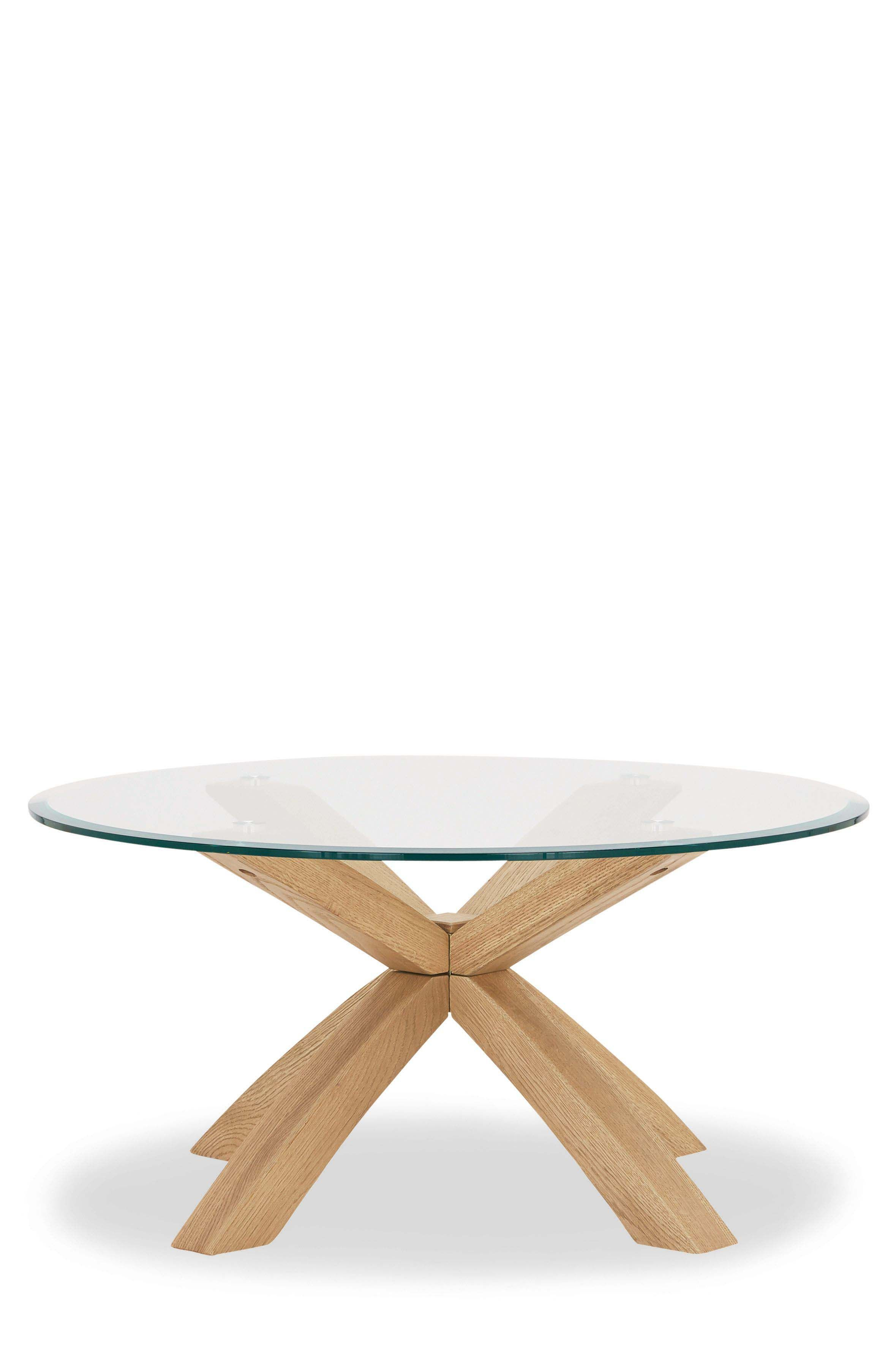 Next Oak And Glass Coffee Table Brown Round Glass Coffee Table