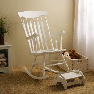White Nursery Rocker U0026 Stool   Traditional   Rocking Chairs   By Hayneedle