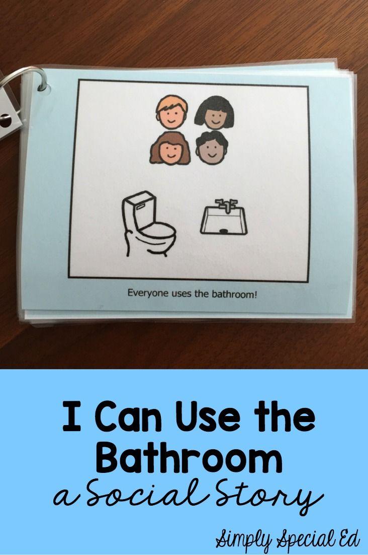Social Narrative I Can Use The Bathroom Toilet Training Social