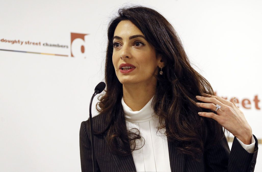 Amal Clooney Addresses The Responsibility Of Her Newfound Celebrity Status In First Us Tv Interview Amal Clooney Celebrities Amal