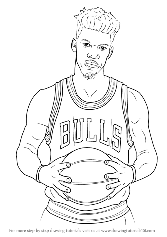 Learn How To Draw Jimmy Butler Basketball Players Step By Step