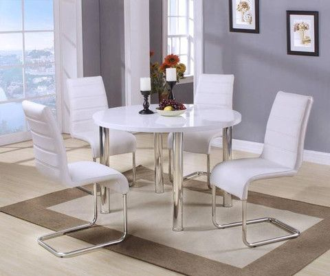 The Orya Dining Collection Features A 45 Round Table Composed Of