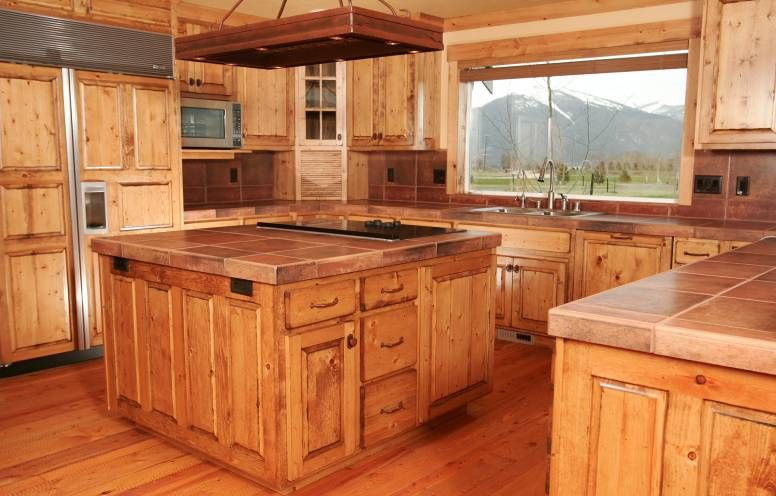 Knotty Pine Kitchen Cabinets Custom Wood Doors Made In Montana By Specialty Woodworks Co