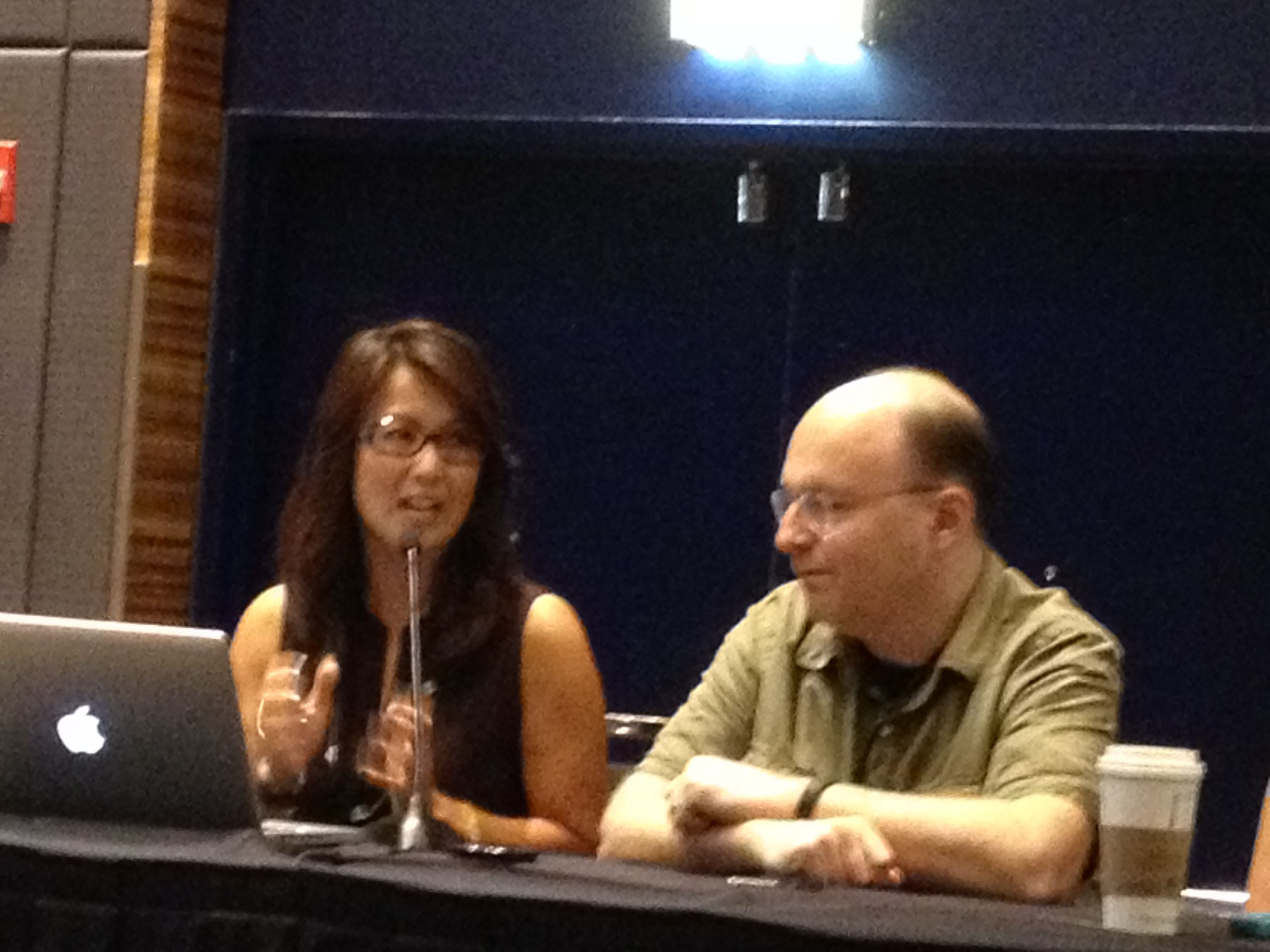 """@NancyLoo and @ScottKleinberg during """"Journalism and Social Media"""" discussion #BBSummit12"""