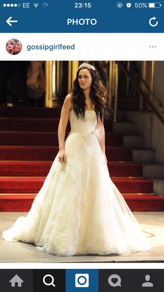 73c5e310840e Blair Waldorfs wedding dress to Louis. | Wedding dresses | Gossip ...