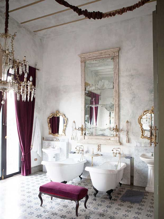 Simply Beautiful Bathrooms: A Traditional And Eclectic Style Bathroom At Hacienda
