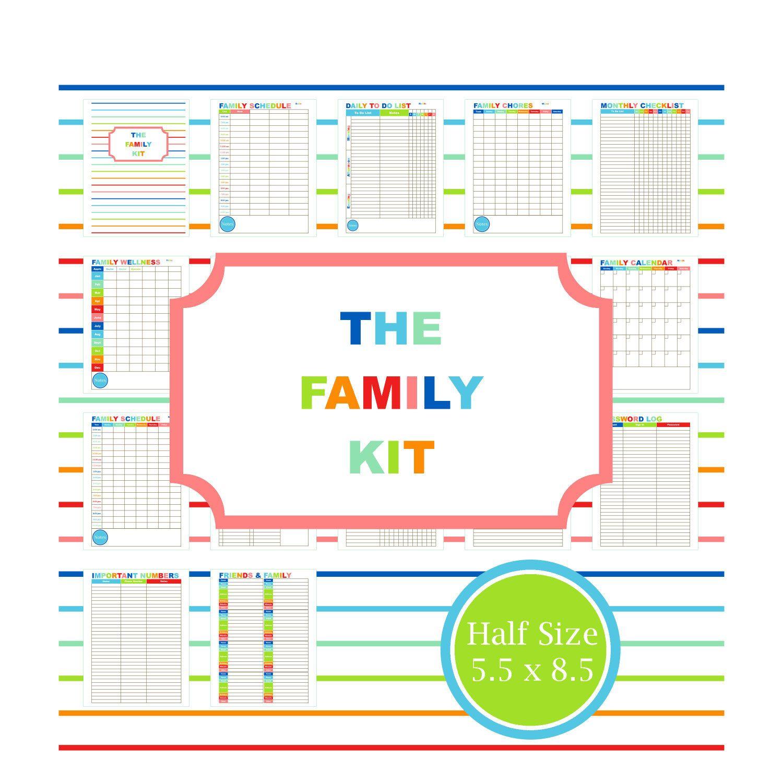 FAMILY PLANNER KIT Printable Family Calendar To Do List