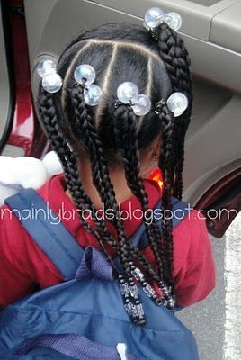 Coiffures pour nos Enfants aux cheveux crépus et frisés