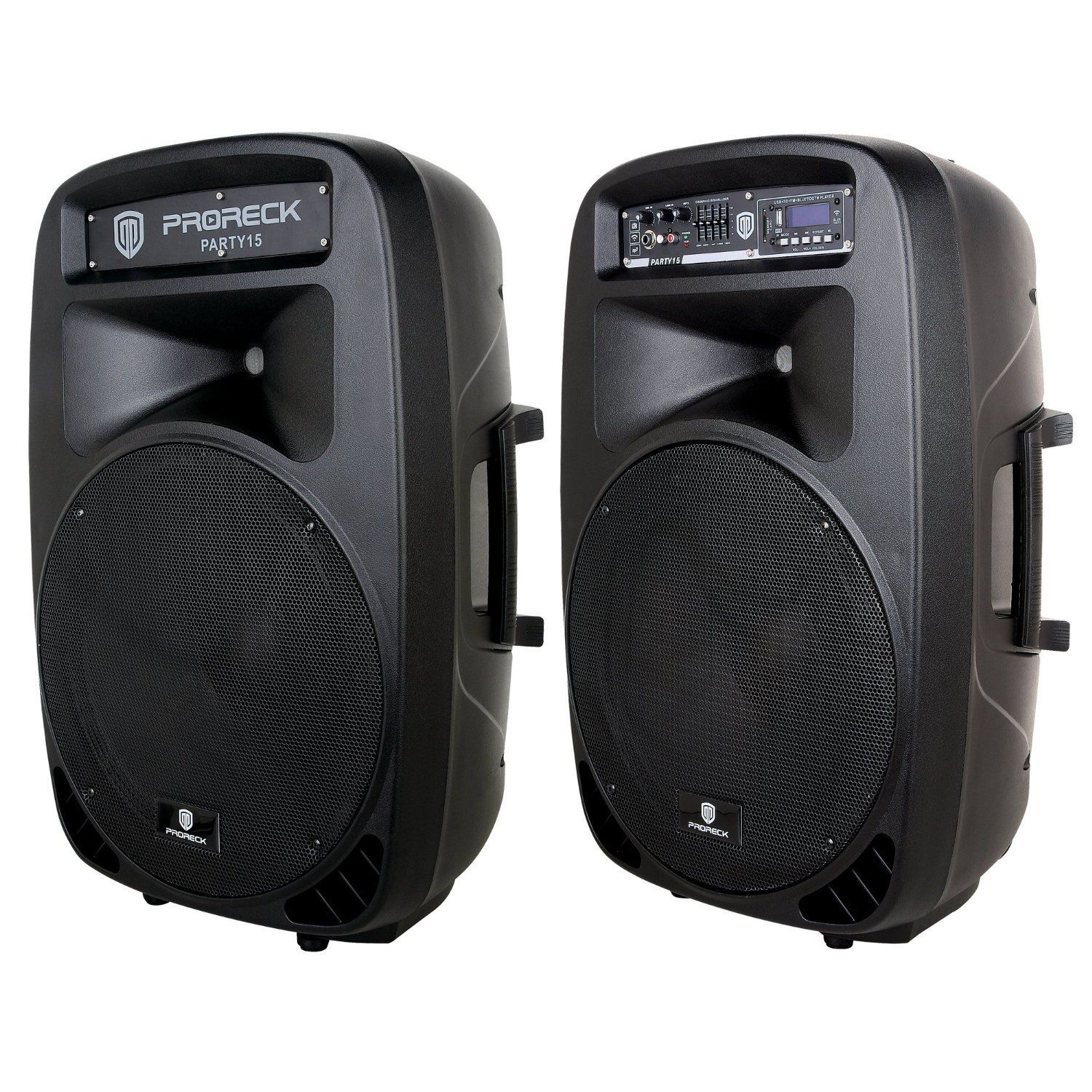 Proreck Party 15 Portable 15 Inch 2000 Watt 2 Way Powered Pa Speaker Party Speakers Cool Bluetooth Speakers Pa Speakers