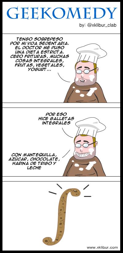 Receta de galletas integrales para friquis matemáticos. ;)