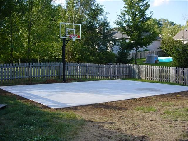 Making A Basketball Court In Yard