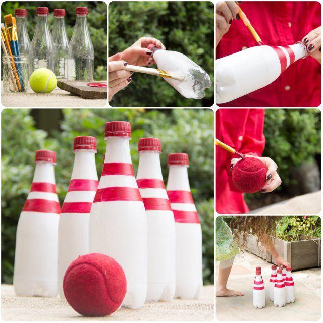 El mejor \'strike\' reciclado. | Pinterest | De plástico, Plástico y Bolos