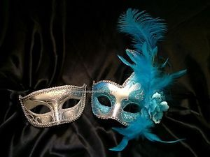 pair masquerade mask for date man and woman couple christmas new year eve party ebay