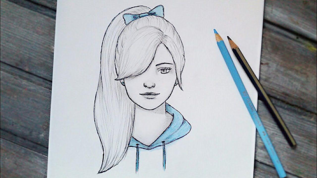 رسومات بالرصاص سهلة خطوات تعليم الرسم بسرعة كنتوسه Art Drawings Art Female Sketch