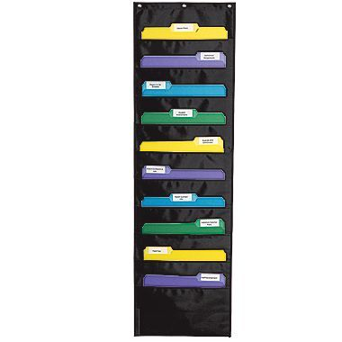 Writing Center or Reading Response Forms/Carson-Dellosa Storage Black Pocket Chart
