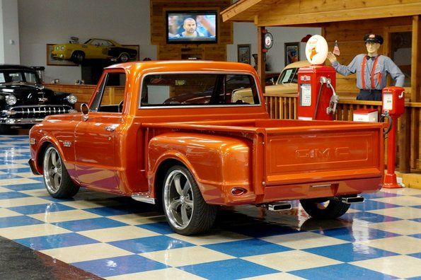 Classic Cars For Sale 1969 Gmc Stepside Pickup Tangerine Red