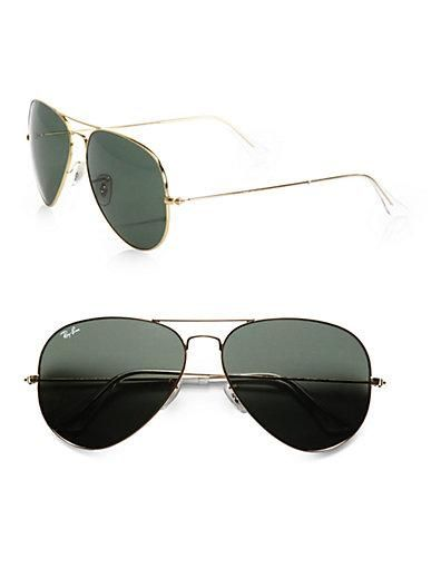 36e426839 The Original Ray-Ban Aviators. Óculos De Sol Aviador Dourado, Outlet De  Óculos