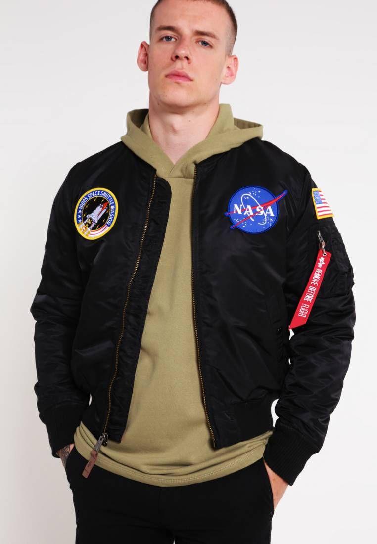 db218ac962ed0 Alpha Industries. MA-1 VF NASA - Bomber Jacket - black. Outer fabric
