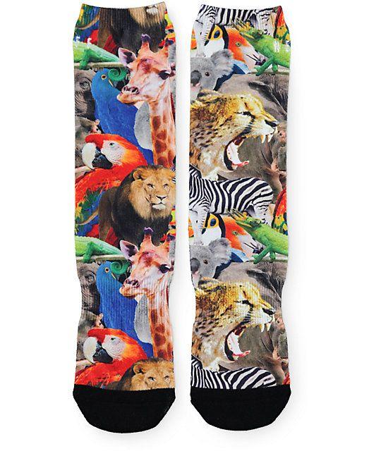 4220f82cd81 Neff Wildlife Crew Socks