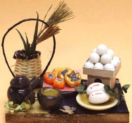 Miniature sweets kit viewing the moon 3207 of Billy handmade dollhouse kit 12 months (japan import)