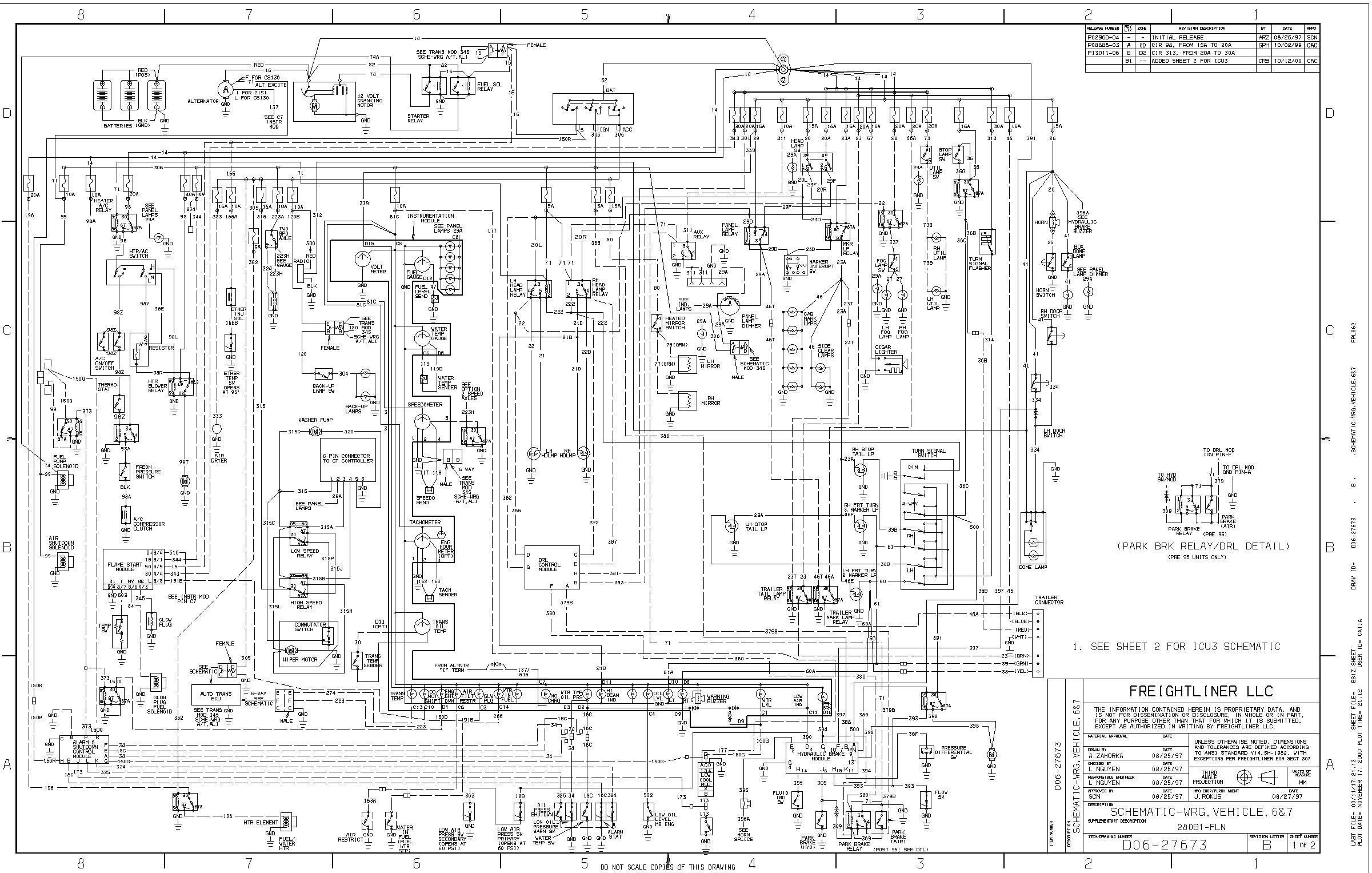 On A 1997 Fl60 Fuse Box Wiring Diagram Yes Freightliner
