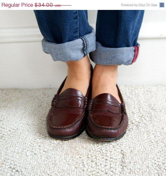 ac57bac365a Vintage Penny Loafers. Dexter. 1980s. Size 5.5   Size 6. Preppy ...