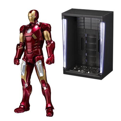 Marvel Iron Man Mark Vii And Hall Of Armor Set Sh Figuarts Action Figure P Bandai Tamashii Exclusive Marvel Iron Man Iron Man Action Figures
