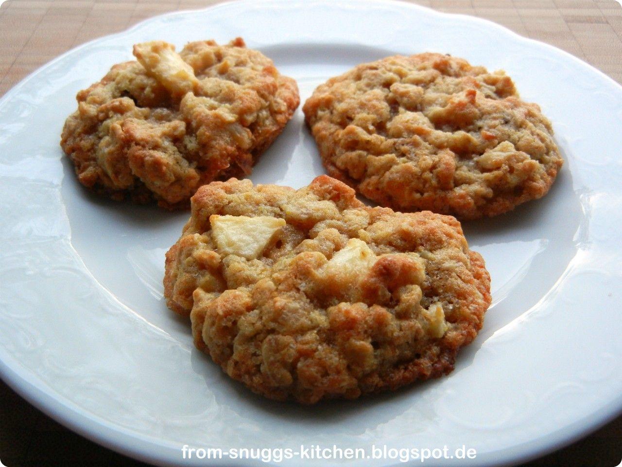 From-Snuggs-Kitchen ... mit Liebe handgemacht: Apfel-Haferflocken-Cookies