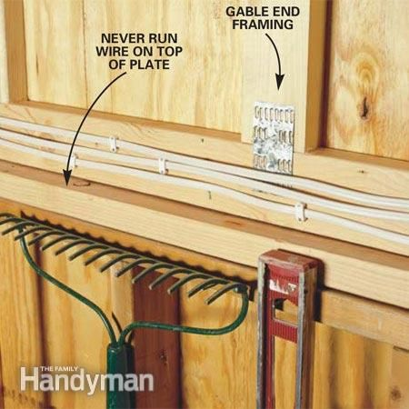 How To Wire A Garage Unfinished Home Electrical Wiring