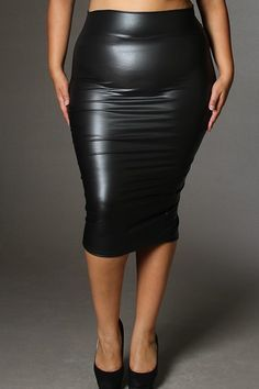 plus size leather skirt 16 #plus #plussize #curvy | Plus ...