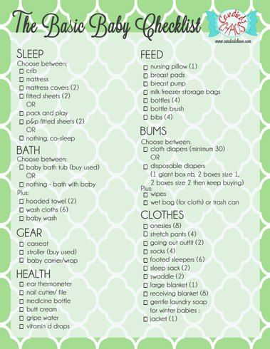 The Basic Baby Registry Checklist By WwwCandiedchaosCom I Love