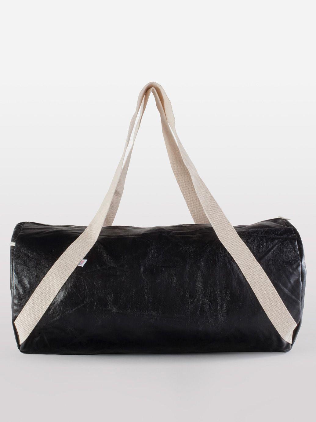 a6315acfa005 Shiny Denim Diagonal Strap Gym Bag