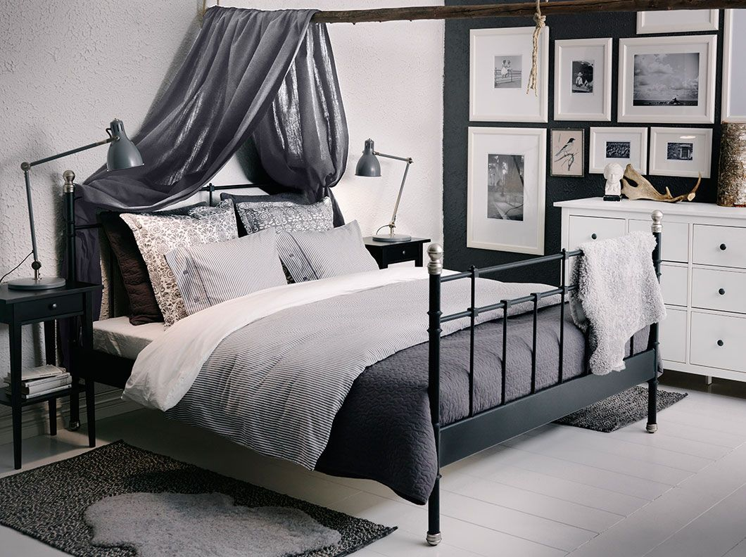 Hemnes, black beds and eclectic living room on pinterest