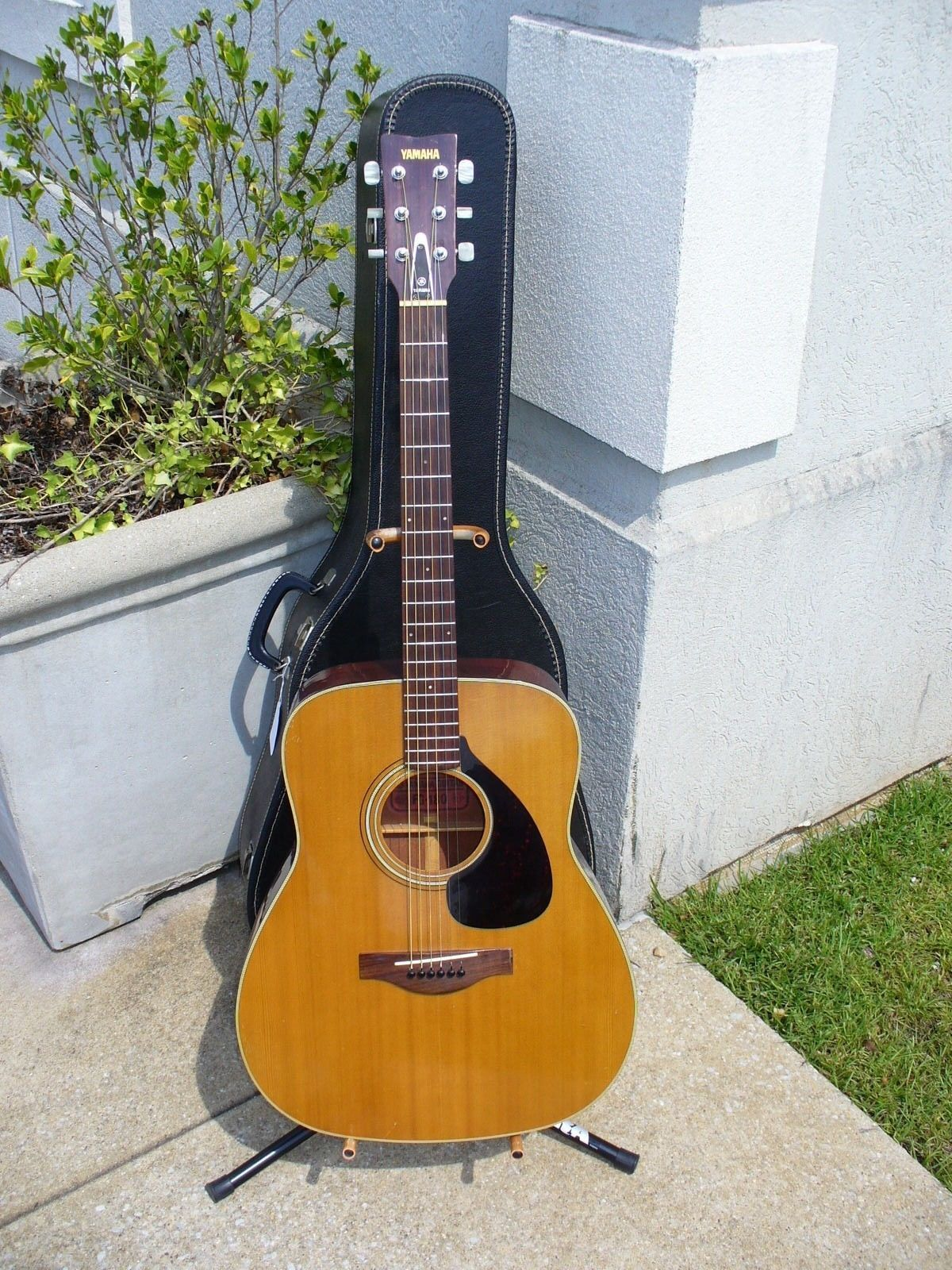 Guitar Vintage Yamaha Fg 180 Dreadnaught Acoustic Guitar Red Label Made In Taiwan W Ch Please Retweet